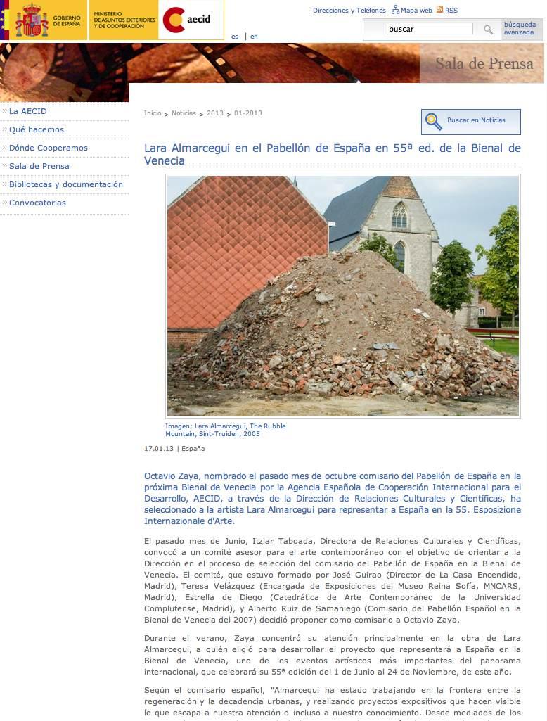 Aecid Lara_Almarceguix_The_Rubble_Mountainx_Sint-Truidenx_2005