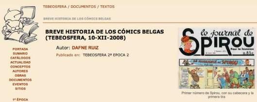 Los comics belgas