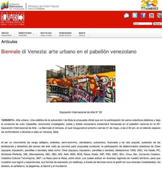 Venezuela biennale 2013