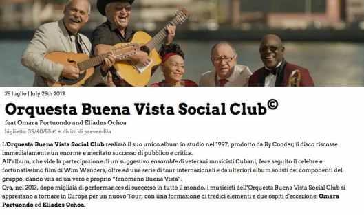 LiVe Buena vista Social club