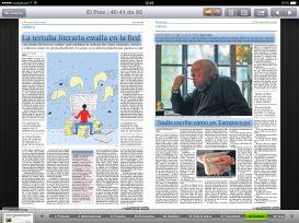 iPad - leyendo el periódico