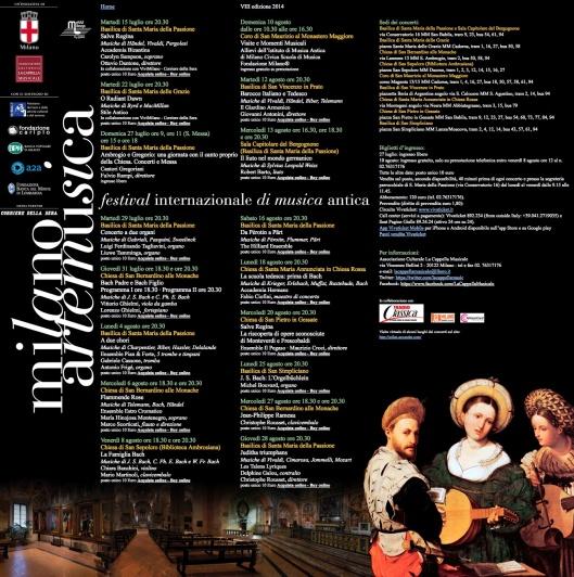 Capella Musicale 2014 Milano Artemusica