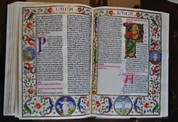 Ziggiotti, 12, 36x26, aperto 36x 52, pagina iniziale del vangelo do Luca