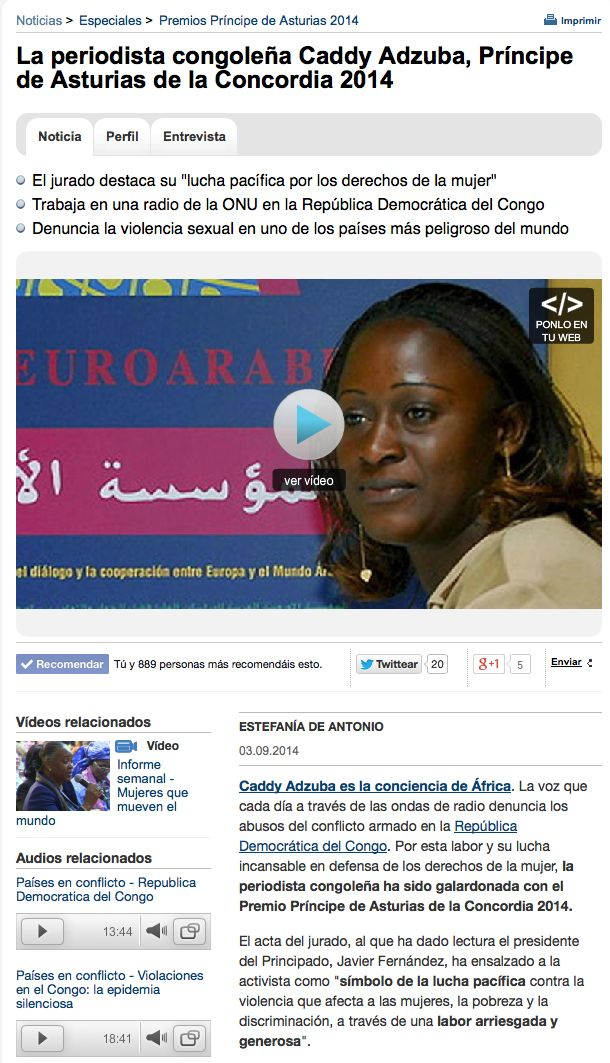Caddy Adzuba RTVE 2