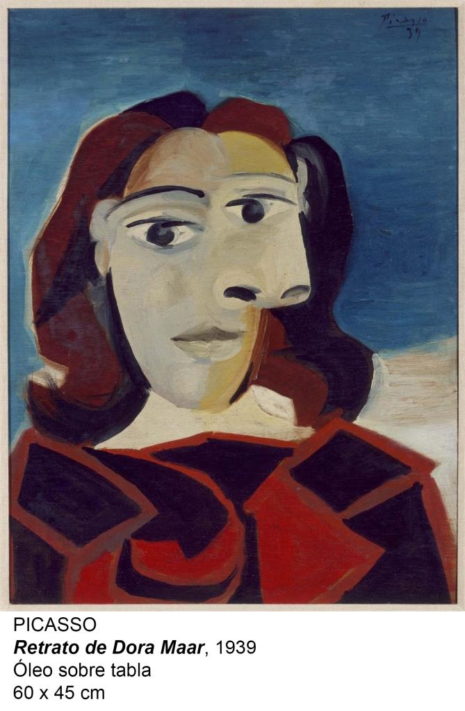 Picasso. Retrato de Dora Maar, 1939