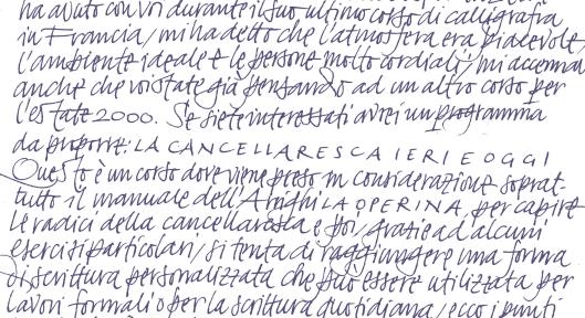 escritura Giovanni de Faccio