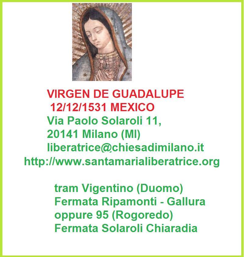 Misa Virgen de Guadelupe 12 12 2014