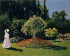 MONET: Mujer en el jardín de Saint-Adresse