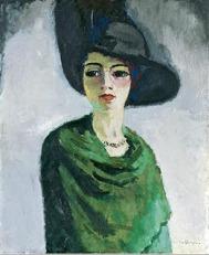 KEES VAN DONGEN: Mujer con sombrero negro