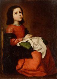 ZURBARÁN: La Virgen niña en oración
