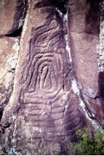 Grabados rupestres de la cultura indígena Guanche