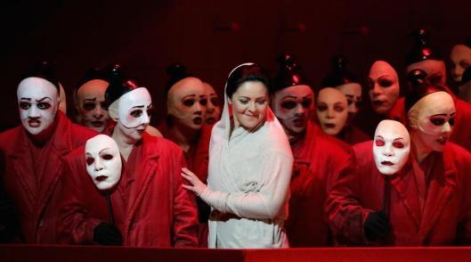 Un'immagine dalla rappresentazione della Turandot (Brescia/Amisano Teatro alla Scala Press Office)