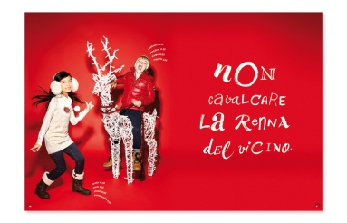 Yvat and Klerb was asked to produce calligraphic artworks for Piazza Italia Kids 2013 Christmas catalogue