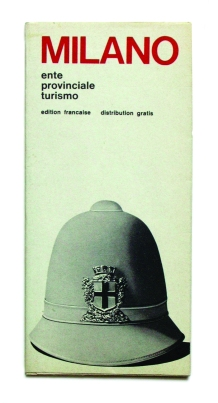 """Graphic design Simonetta Ferrante e Gianni Rossi – EPT Milano, """"Pieghevoli con cartina di Milano"""", 1969-1970"""