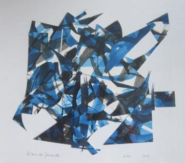 """Simonetta Ferrante, """"Blu Collage (resti di un alfabeto)"""", 2011"""