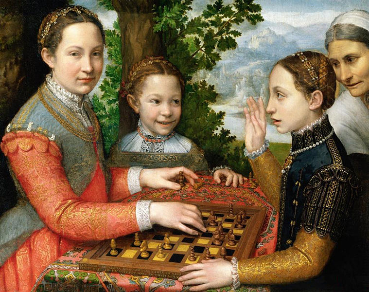 """<span style=""""font-size: x-small;"""">The Chess Game - Sofonisba Anguissola</span>"""