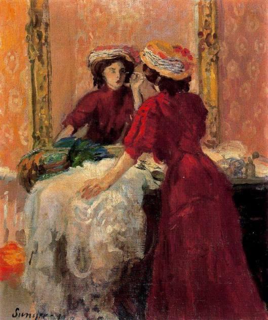 Joaquim Sunyer, El maquillaje, 1907