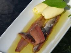 Santoña. Tapa de anchoas en aceite