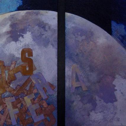 ISABEL JOVER Barcelona 1951 Es licenciada en Bellas Artes por la Universidad de Barcelona. Amplia sus estudios en diversas ciudades Europeas: Londres, Ámsterdam y Bruselas, donde se establece durante seis años, obteniendo diversos premios y distinciones, entre ellos: Diploma y Medalla del Consejo Europeo de Arte y Estética. Posteriormente se traslada a Taipei, donde permanece por espacio de año y medio, experimentando con técnicas de pintura China y pintura Zen. Ha realizado numerosas exposiciones individuales y colectivas, tanto en España como en el extranjero. Ha participado en diversas Bienales y Simposios Internacionales de Arte Contemporáneo. Su obra, hoy en día vinculada a la Poética Visual, figura en diversas antologías de Pintura, Poesía Visual y Publicaciones de Obra Gráfica.