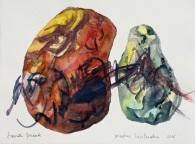 1 Piedras hablandose, 2016, acquerello su carta, 28x38 cm