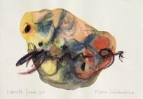 12 Piedras hablandose, 2015, acquerello su carta, 20,5x29 cm