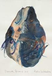 13 Piedras hablandose, 2015, acquerello su carta, 29x20,5 cm