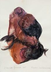 15 Piedras hablandose, 2015, acquerello su carta, 29x20,5 cm