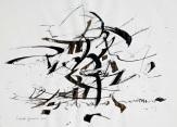 21 Calligrafia, 2015, Inchiostro su carta, 42x58 cm