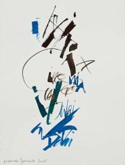 23 Calligrafia, 2016, Inchiostro su carta, 38x28 cm