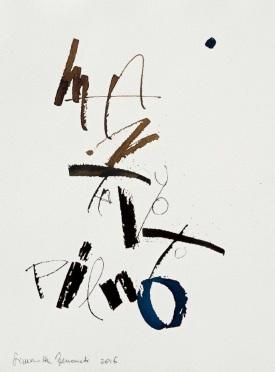24 Calligrafia, 2016, Inchiostro su carta, 38x28 cm