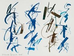 25 Calligrafia, 2016, Inchiostro su carta, 28x38 cm