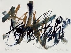 26 Calligrafia, 2016, Inchiostro su carta, 28x38 cm