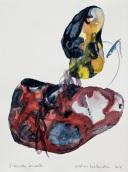 5 Piedras hablandose, 2016, acquerello su carta, 38x28 cm