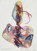 7 Piedras hablandose, 2016, acquerello su carta, 38x28 cm