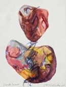 8 Piedras hablandose, 2016, acquerello su carta, 38x28 cm