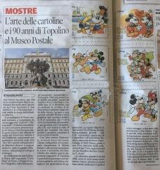 L'arte delle cartoline e i 90 anni di Topolino al Museo Postale - AnnaLisa Perini