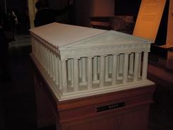 Maqueta con la reconstrucción del Partenón de Atenas.