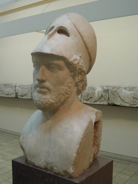 Escultura que representa Pericles, primer ciudadano de Atenas y comitente del Partenón y de la Acrópolis de Atenas.