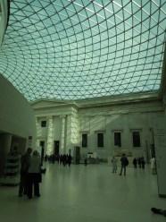 Interior del Museo Británico - el patio cubierto.