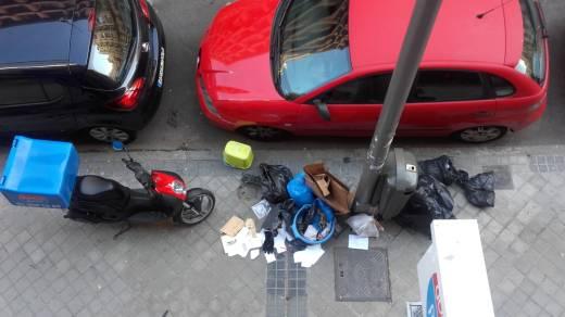 Perspectiva terrícola de la calle Espronceda del barrio de Ríos Rosas.