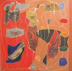 "(18) Memories, 2005, tecnica mista, cm 200x200. ""Solo una cosa no hay. Es el olvido. Solo una cosa non c'è. È l'oblio."" Jorge Luis Borges"